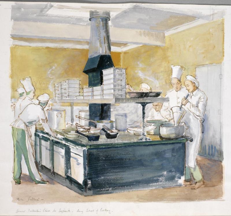 datei general instruction class for sergeants army school of cookery aldershot art