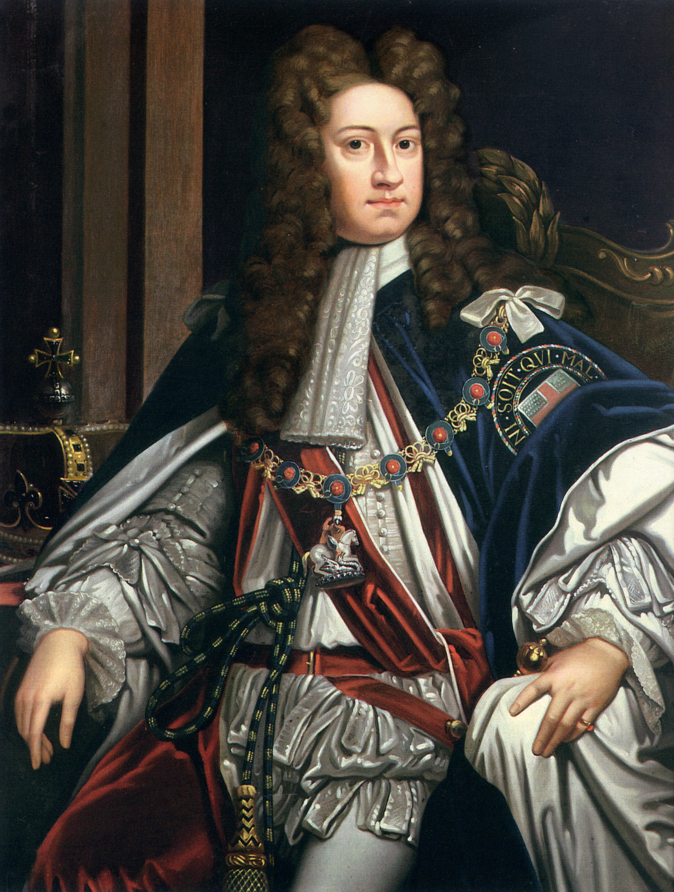 A painting of King George I of England./Ph. DR