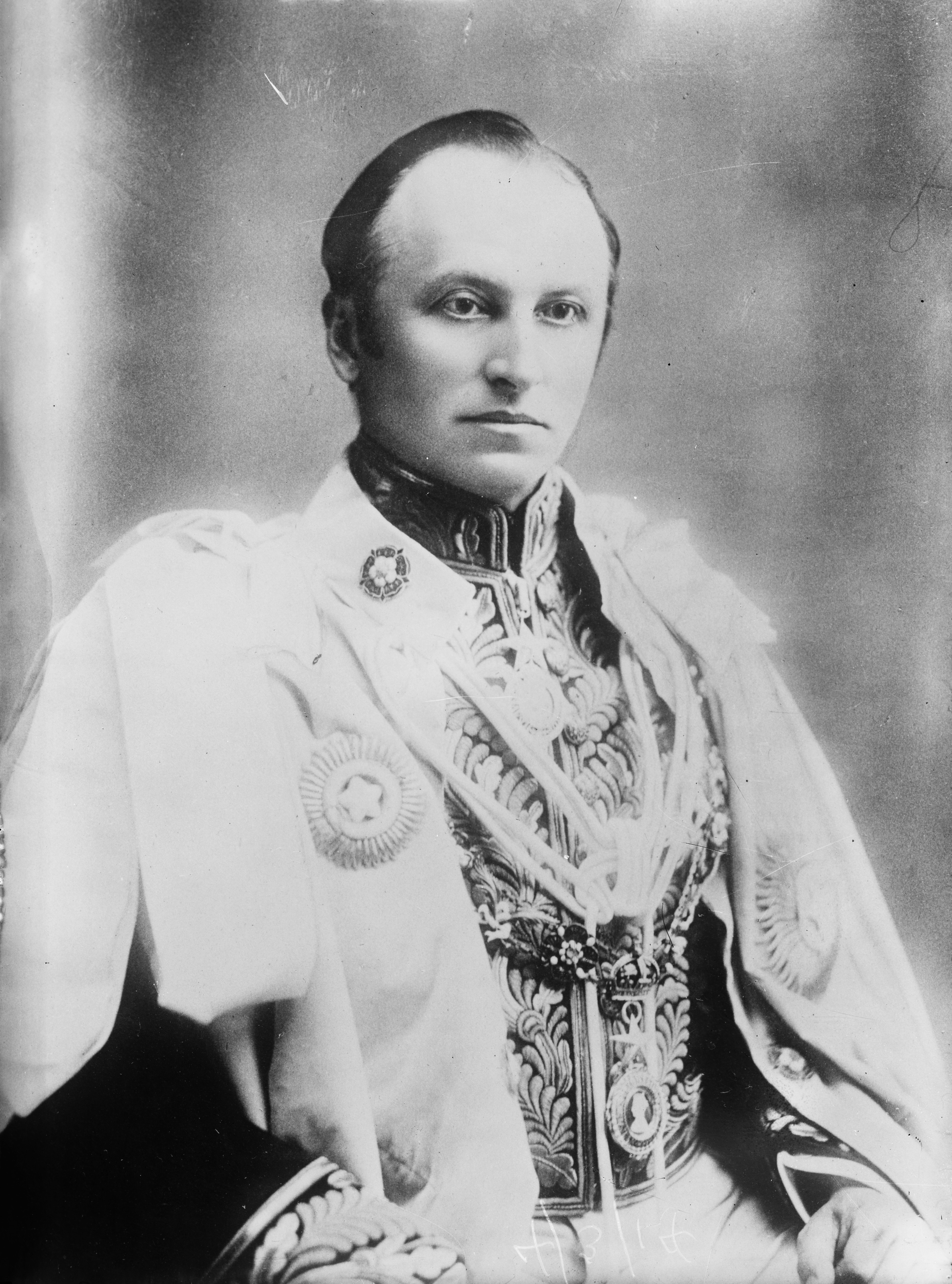 Lord Curzon in his robes as viceroy of India, a post he held from 1899 to 1905. George Curzon2.jpg