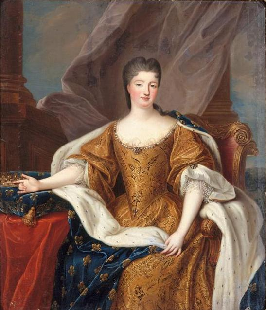 Pierre Gobert, Marie Anne de Bourbon, 1713, Palace of Versaille, Versaille, France. 18th century fashion