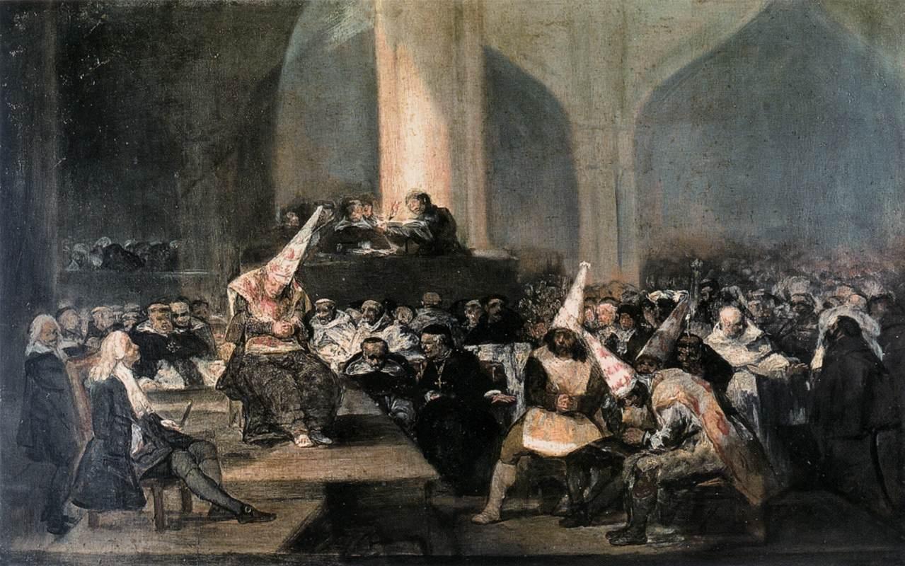 Darstellung des Inquisitionstribunals durch Francisco de Goya - 1746 bis 1828