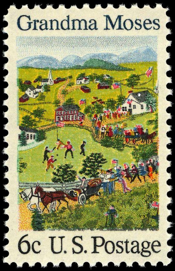 Grandma Moses Stamp 1969