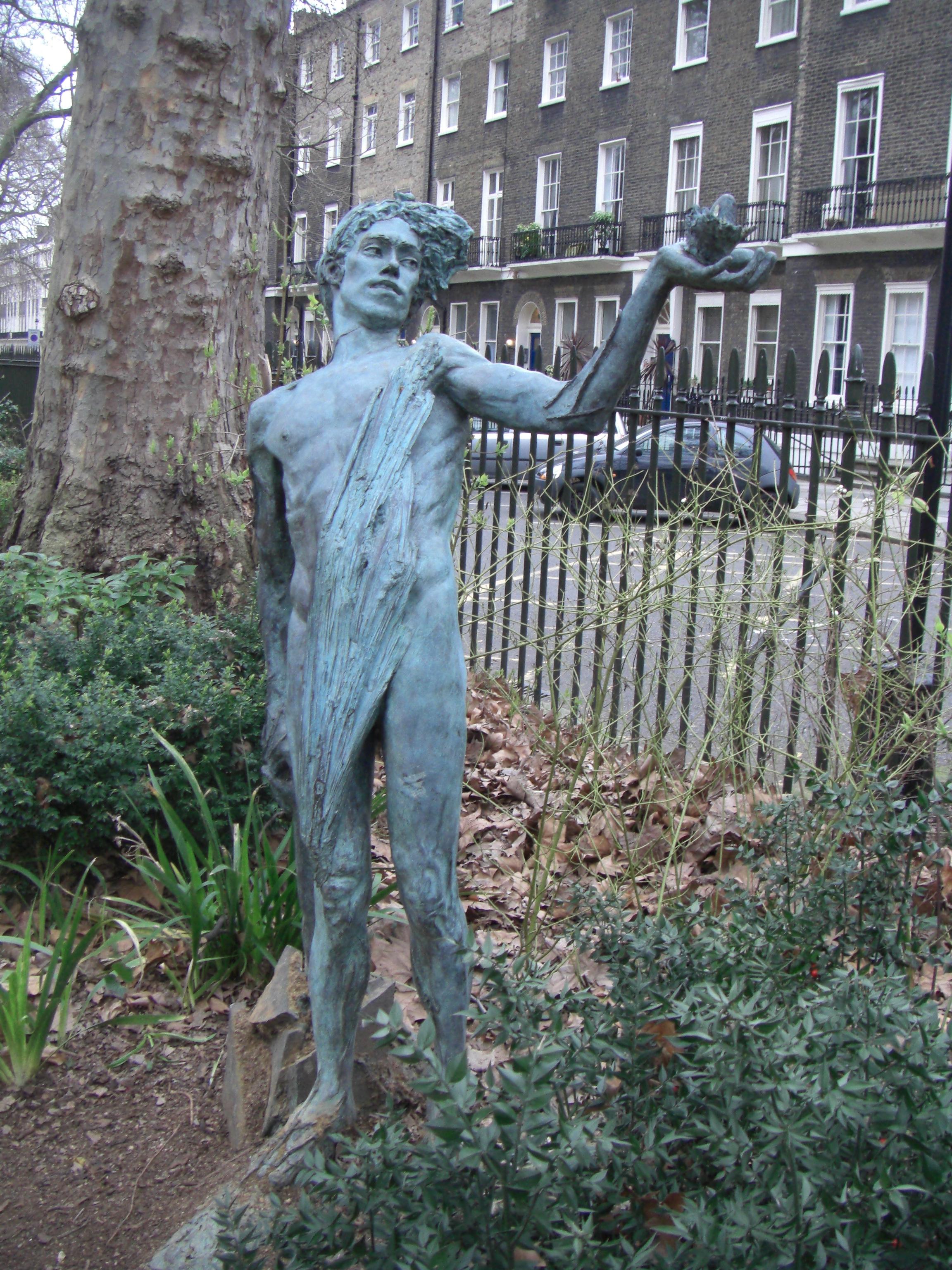 File:Green Man By Lydia Kapinska, Woburn Square