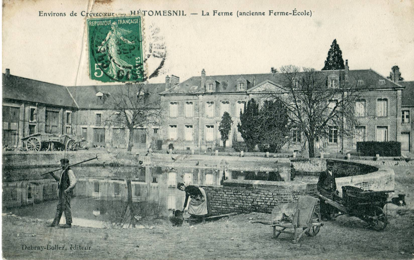 File hetomesnil la ferme ancienne ferme cole jpg for Porte de ferme ancienne