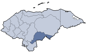 Location of El Paraíso department
