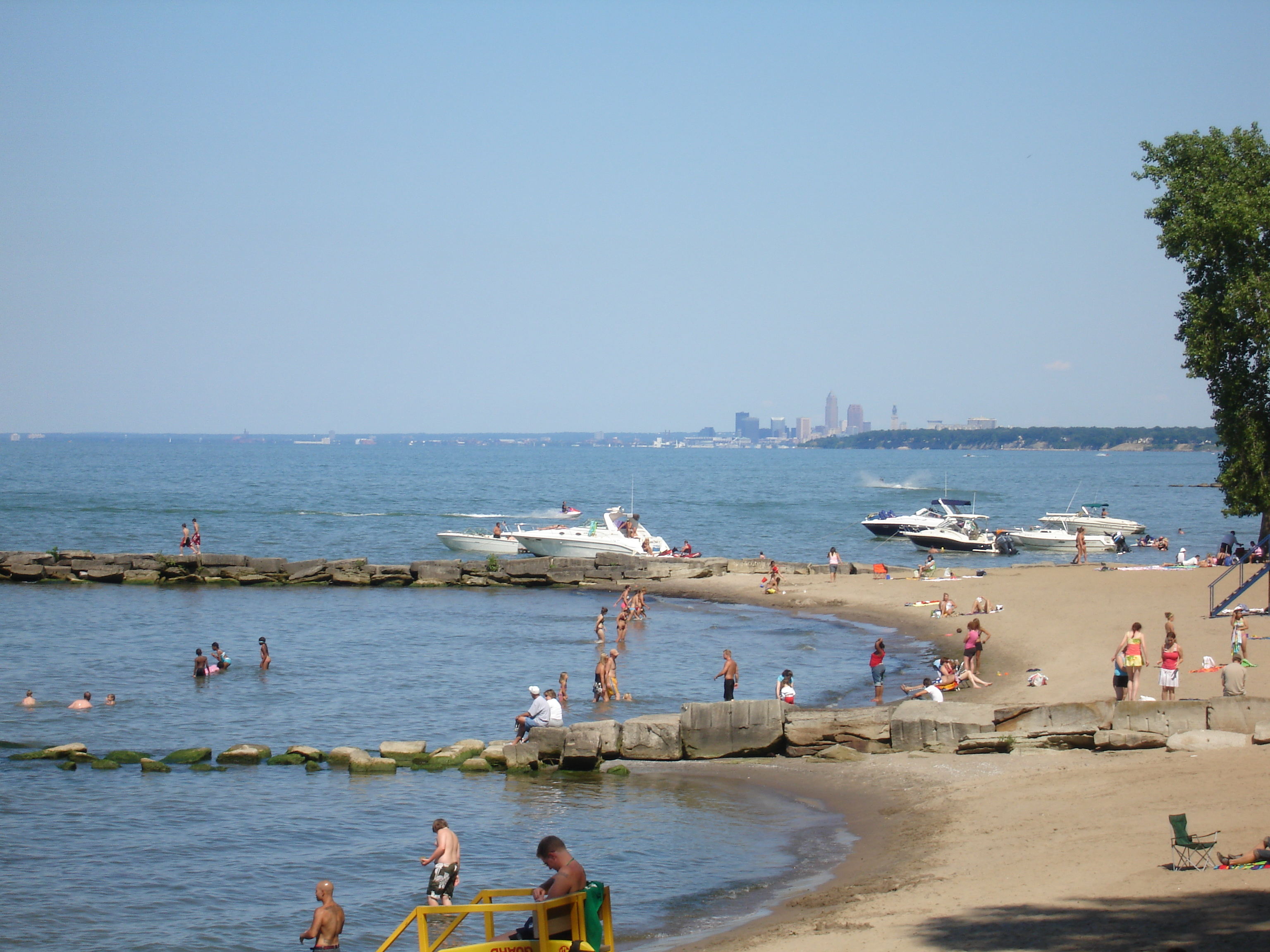 File Huntington Beach With Downtown Cleveland In Background Jpg