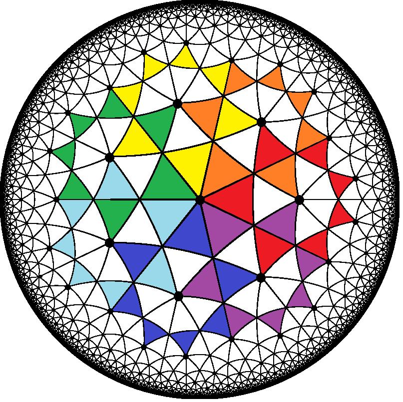 Order-7 Heptagrammic Tiling