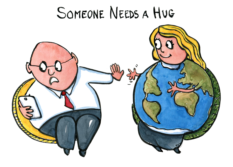 File Illustration someone needs a hug by frits ahlefeldt txt vers