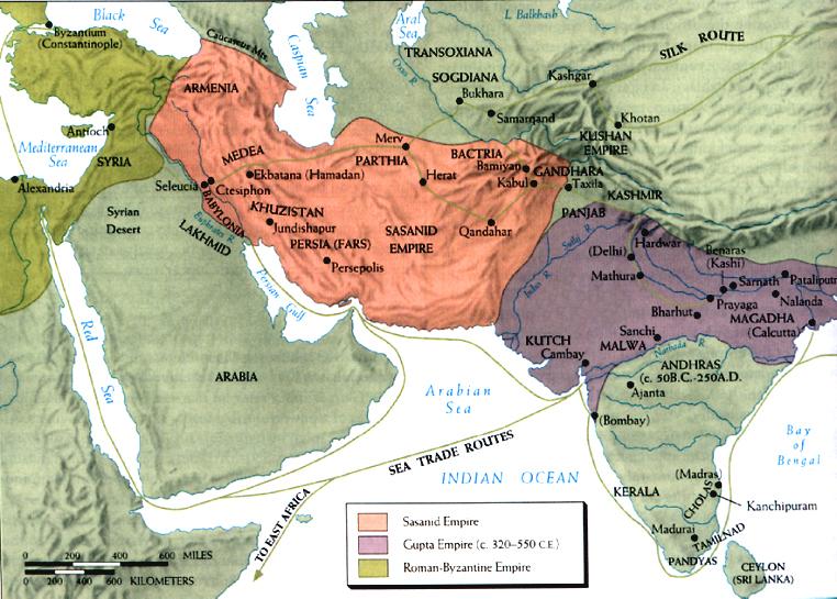 Période préislamique Indo-Sassanid