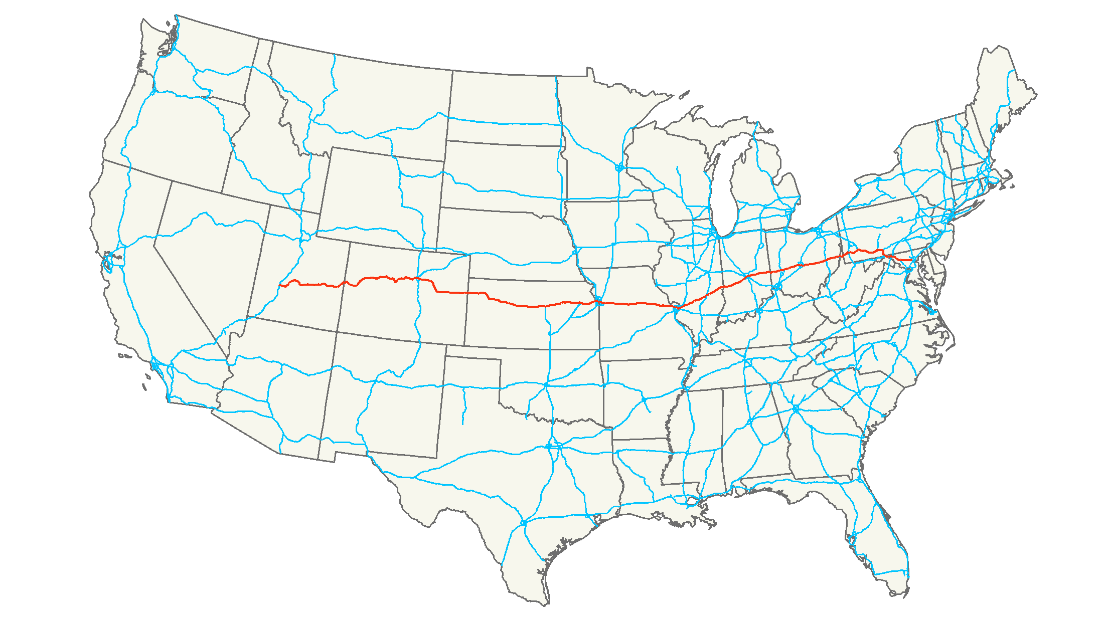 Interstate  Wikiwand - Us map with cities and interstates