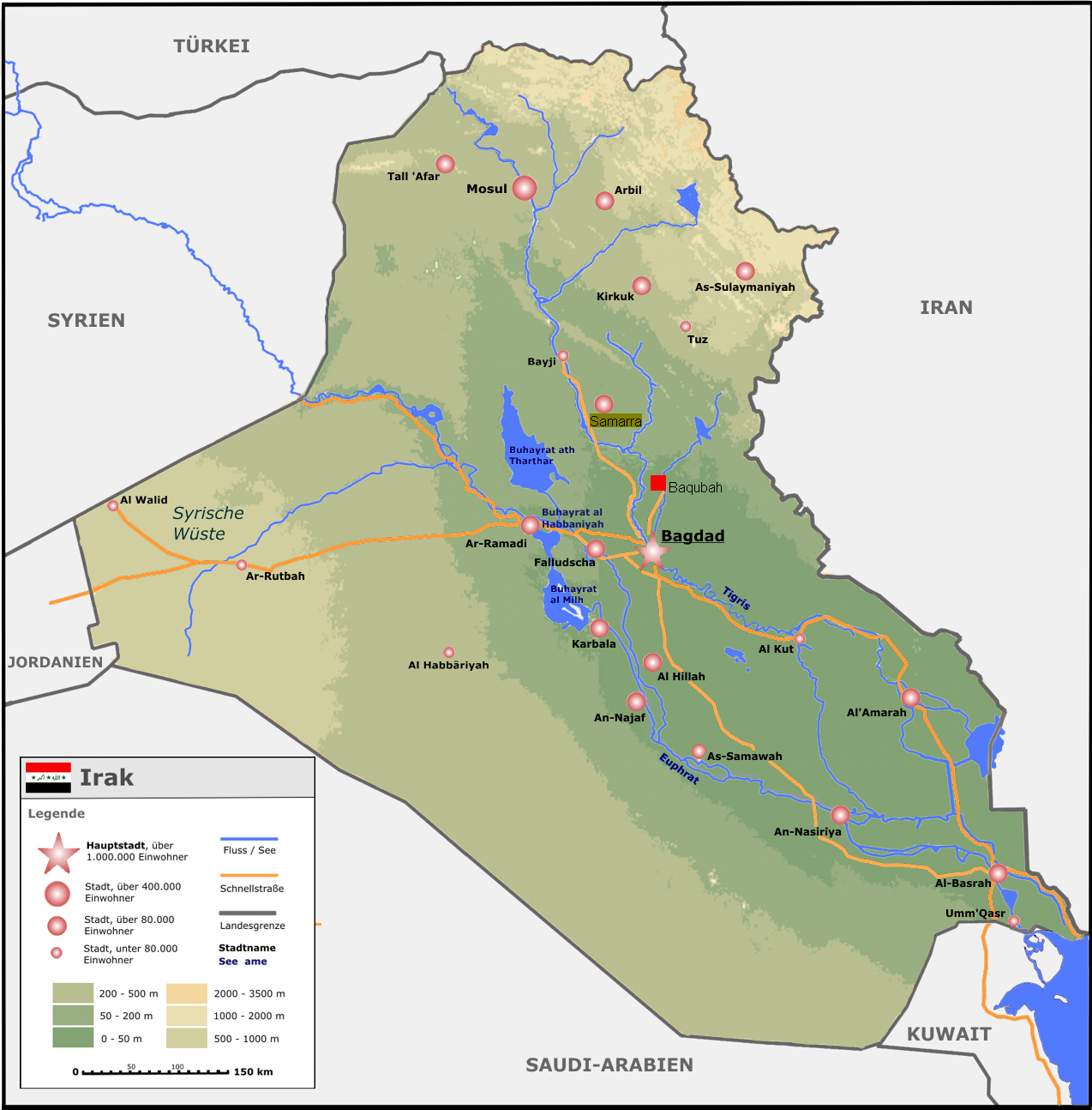irak karte2png map of iraq