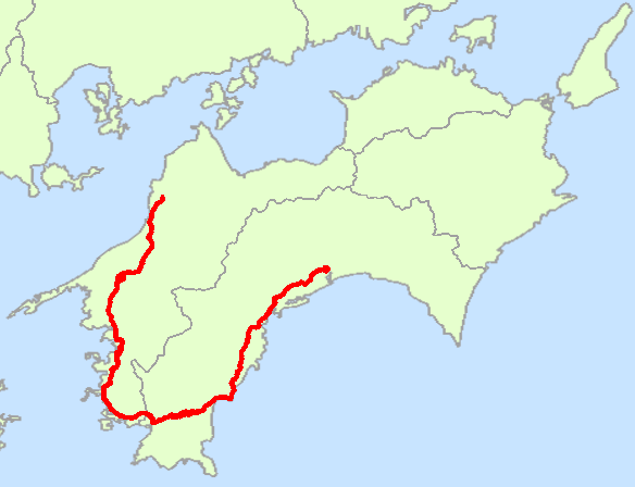 File Japan National Route 56 Map Wikimedia mons