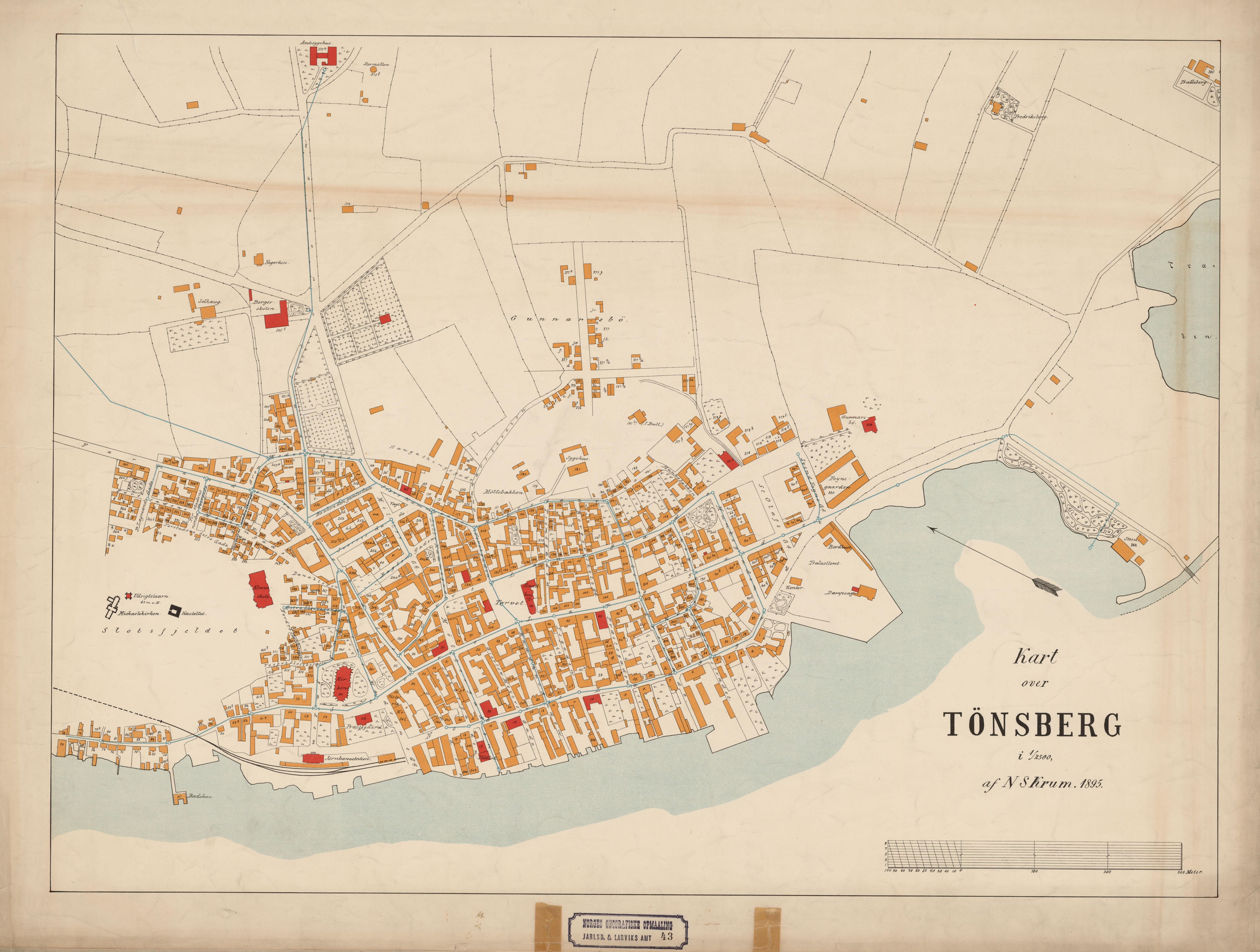 File Jarlsberg Og Larviks Amt Nr 43 Kart Over Tonsberg 1895 Jpg