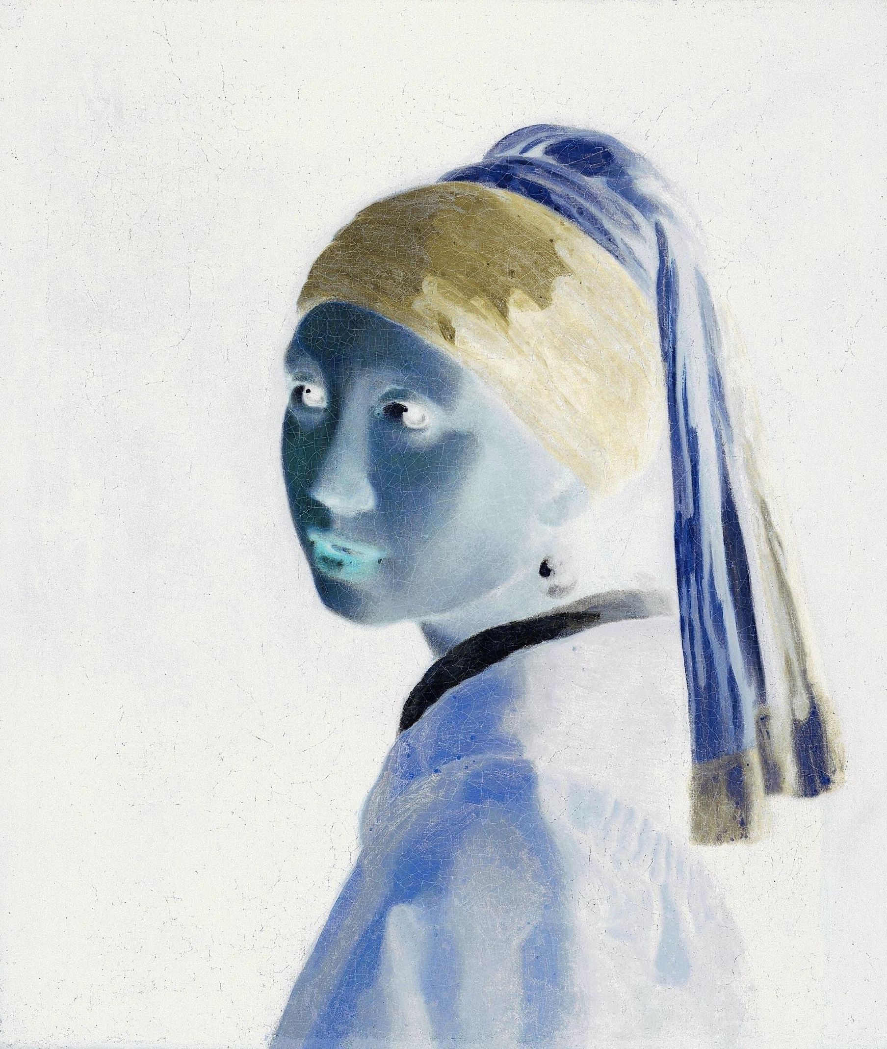 File:johannes Vermeer  Girl With A Pearl Earring (1660s)  Negative