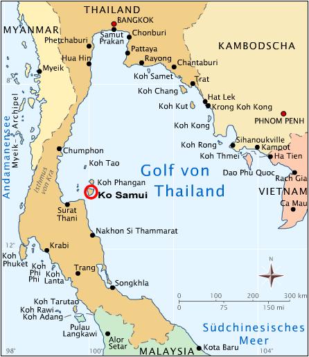 Mapa y localización de Koh Samui