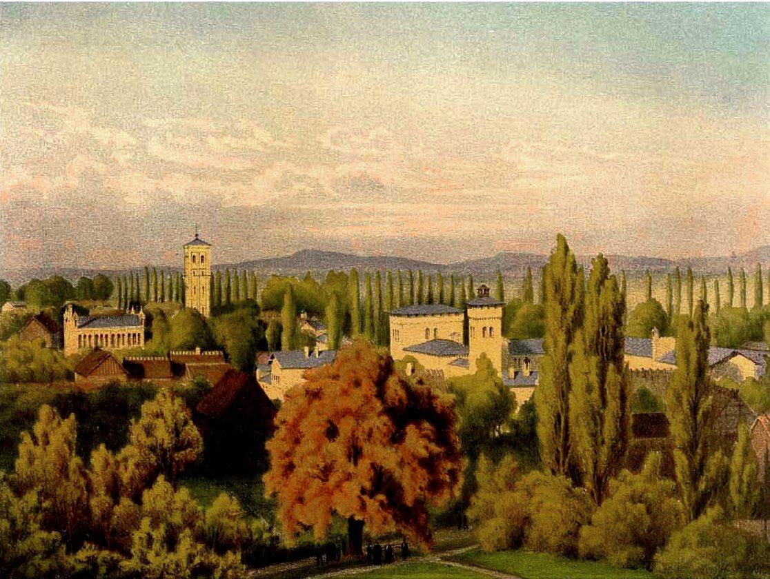 Krongut Bornstedt um 1860