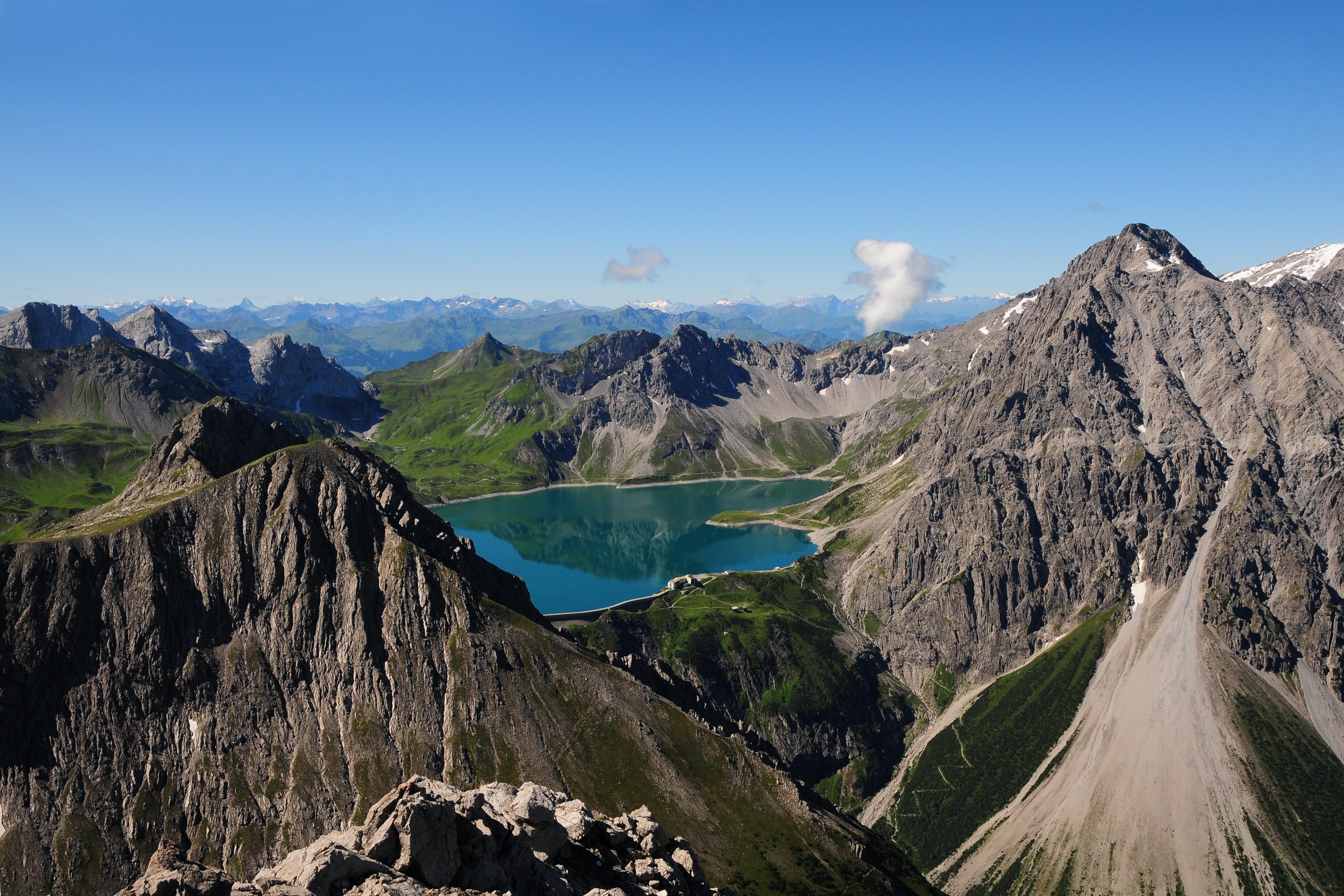 Klettersteig Lünersee : Datei lünersee vom saulakopf g u wikipedia