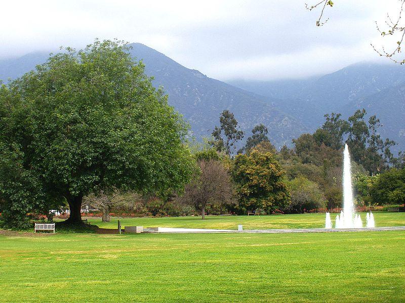 LA County Arboretum - fountain
