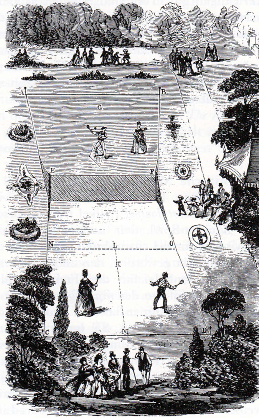 Lawn Tennis Drawing File:lawn Tennis Court 1874