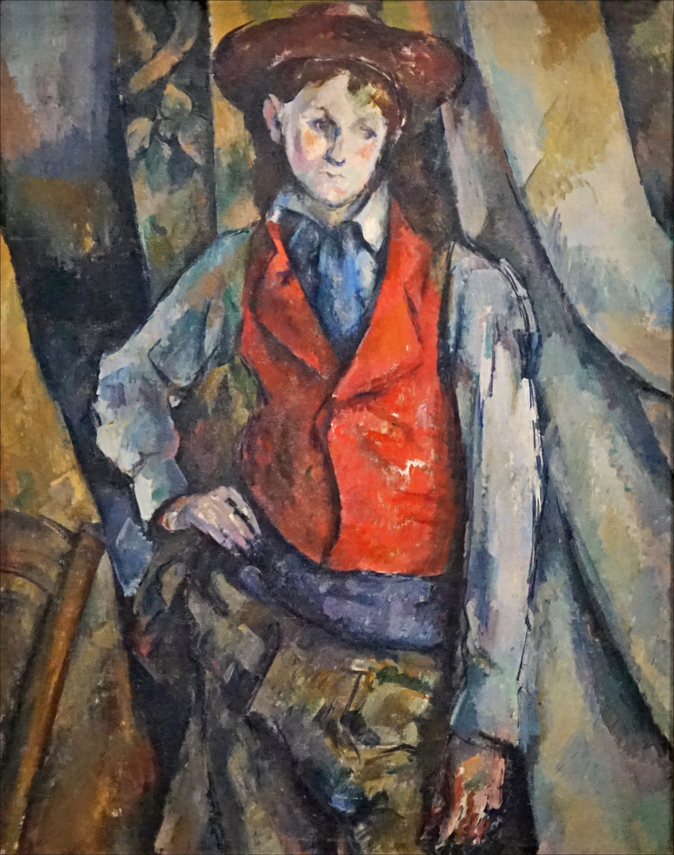 Filele Garçon Au Gilet Rouge De Paul Cézanne Musée Dorsay