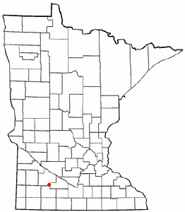Location of Sanborn, Minnesota