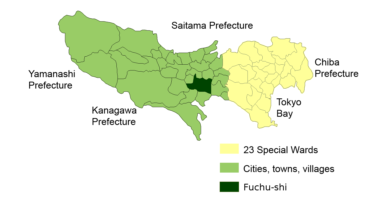 File Map Fuchu Tokyo en Wikimedia mons