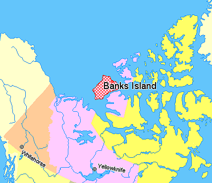 FileMap indicating Banks Island Northwest Territories Canada