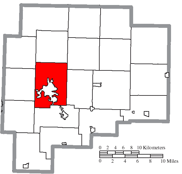File Map of Guernsey County Ohio Highlighting Cambridge Township
