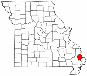 Map of Missouri highlighting Scott County.png