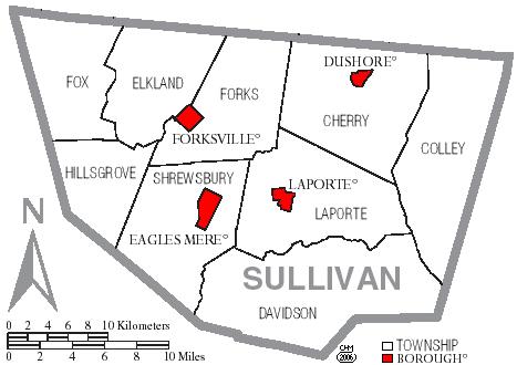 List of municipalities in Sullivan County Pennsylvania
