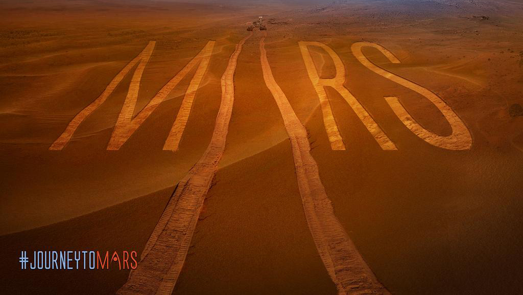 NASA Graphic for the Journey to Mars