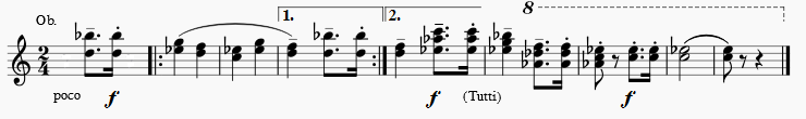 Martinu Symphony No. 1, 4th movement, theme
