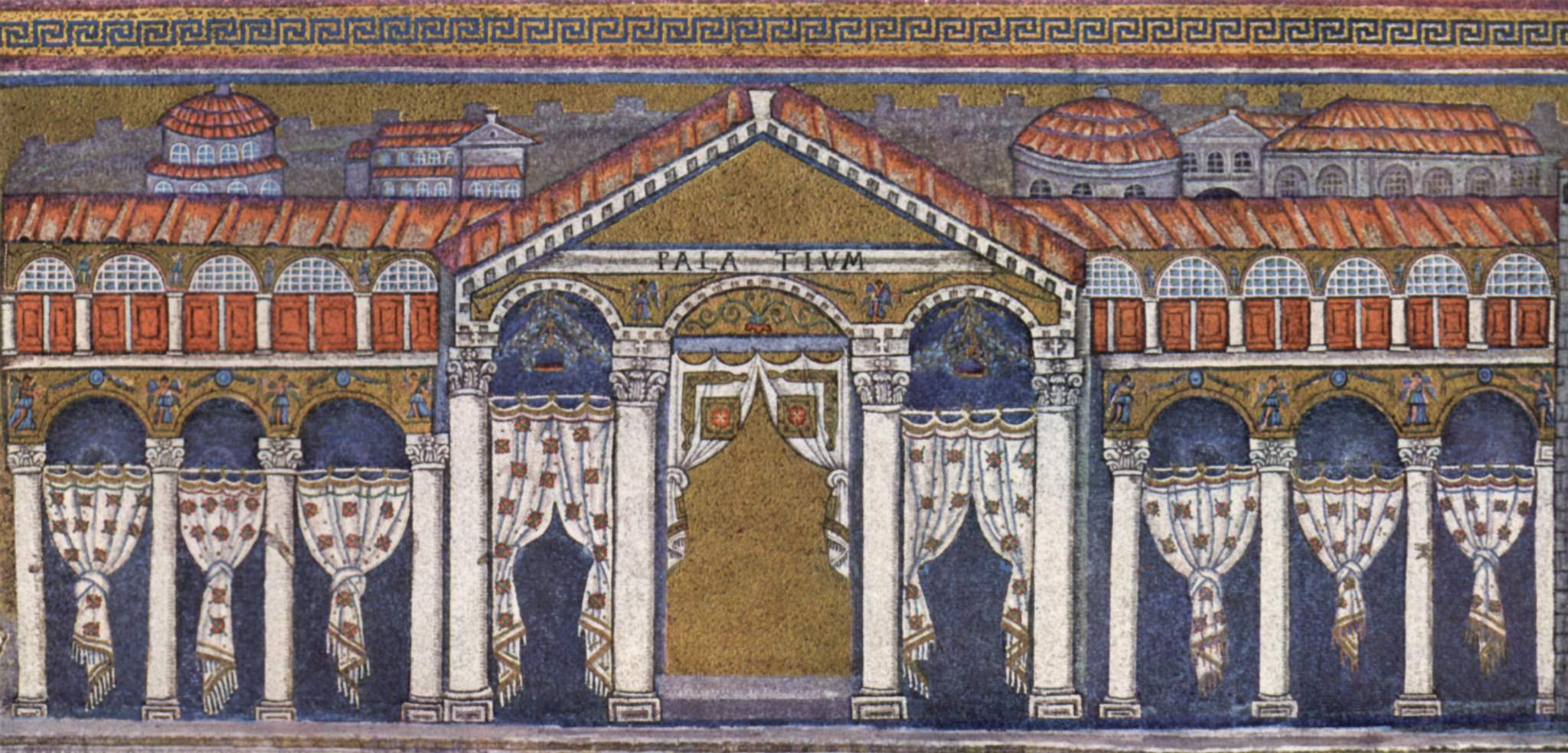 File meister von san apollinare nuovo in ravenna for El mural de mosaicos