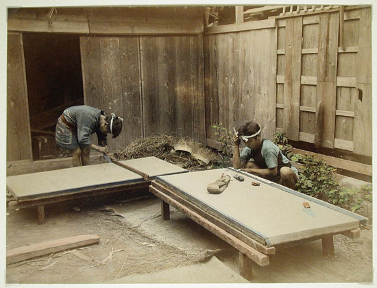 file men making tatami mats 1860 ca wikipedia. Black Bedroom Furniture Sets. Home Design Ideas