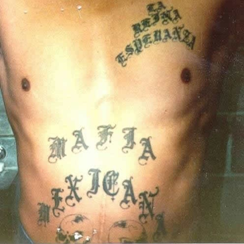 Mexican Mafia tattoo