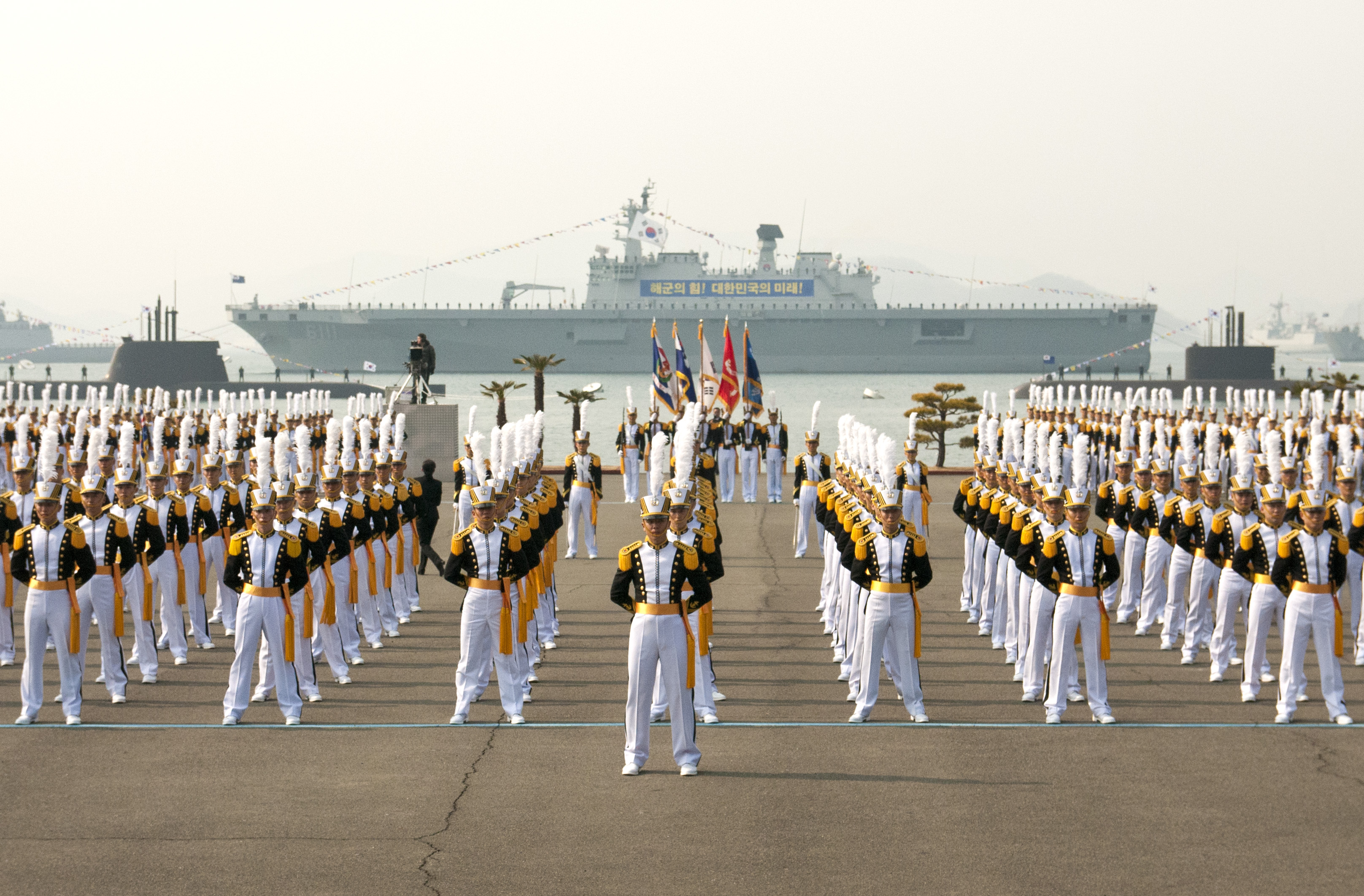 file midshipmen at the rok naval academy graduation jpg wikimedia