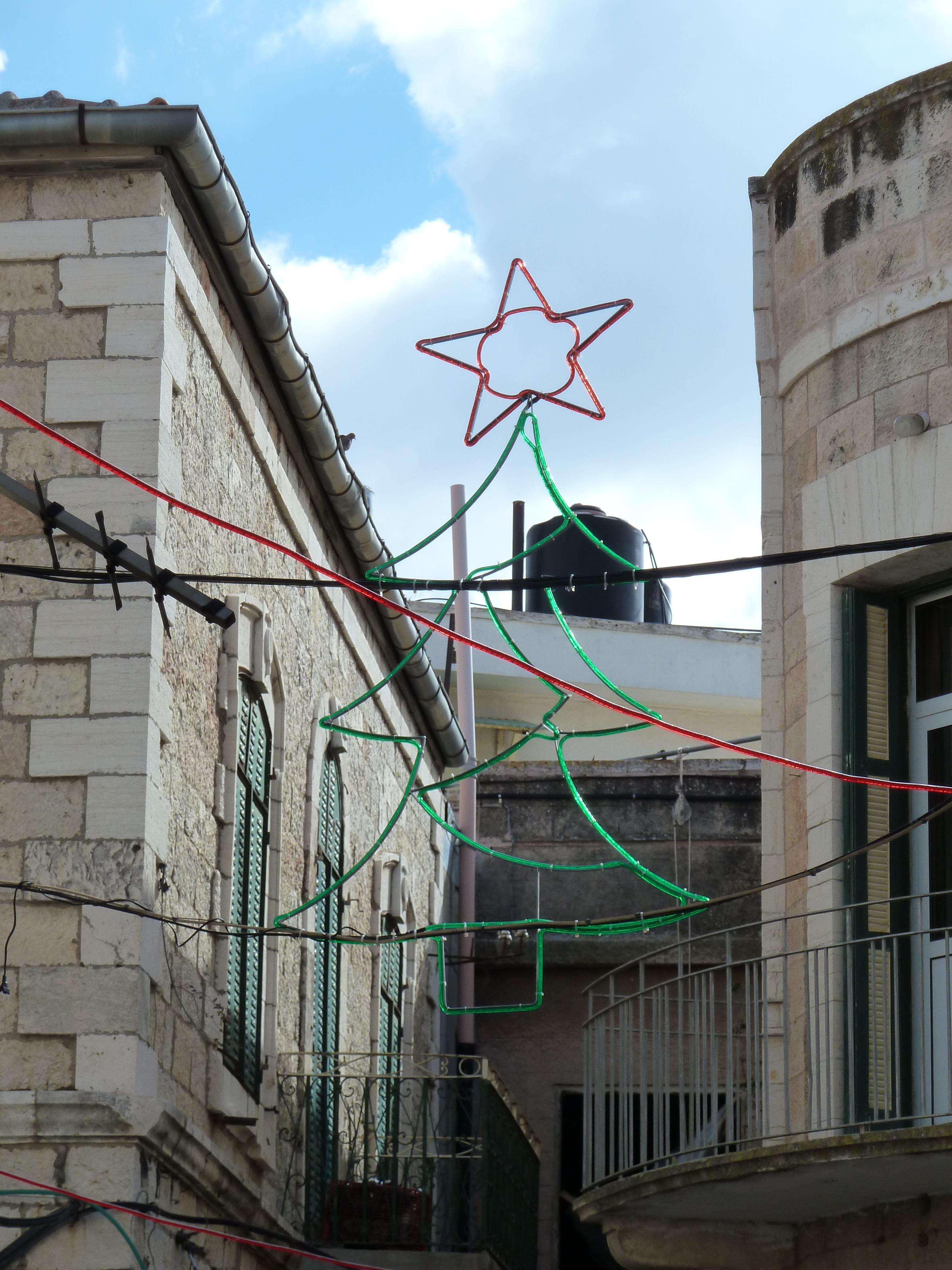 File Old Jerusalem Christmas decorations Wikimedia mons