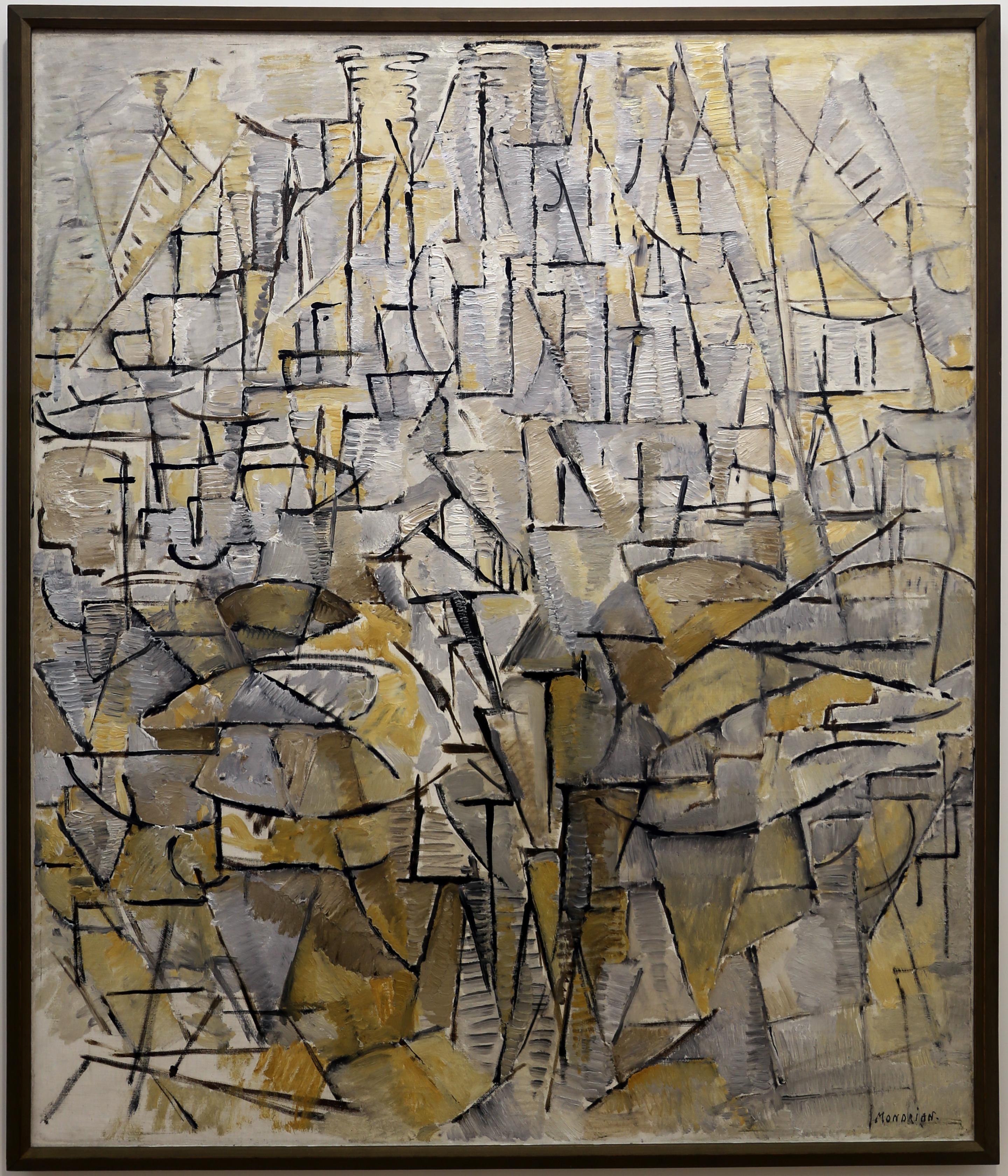 File Piet Mondrian Tableau N 4 1913 01 Jpg Wikimedia Commons
