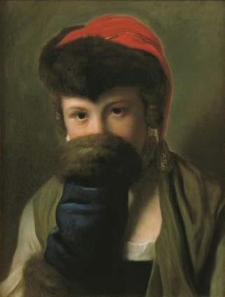 Pietro Antonio Rotari A young girl hiding behind a muff.jpg