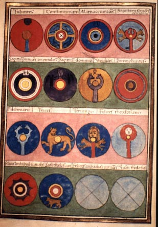 Shield patterns from the Notitia Dignitatum