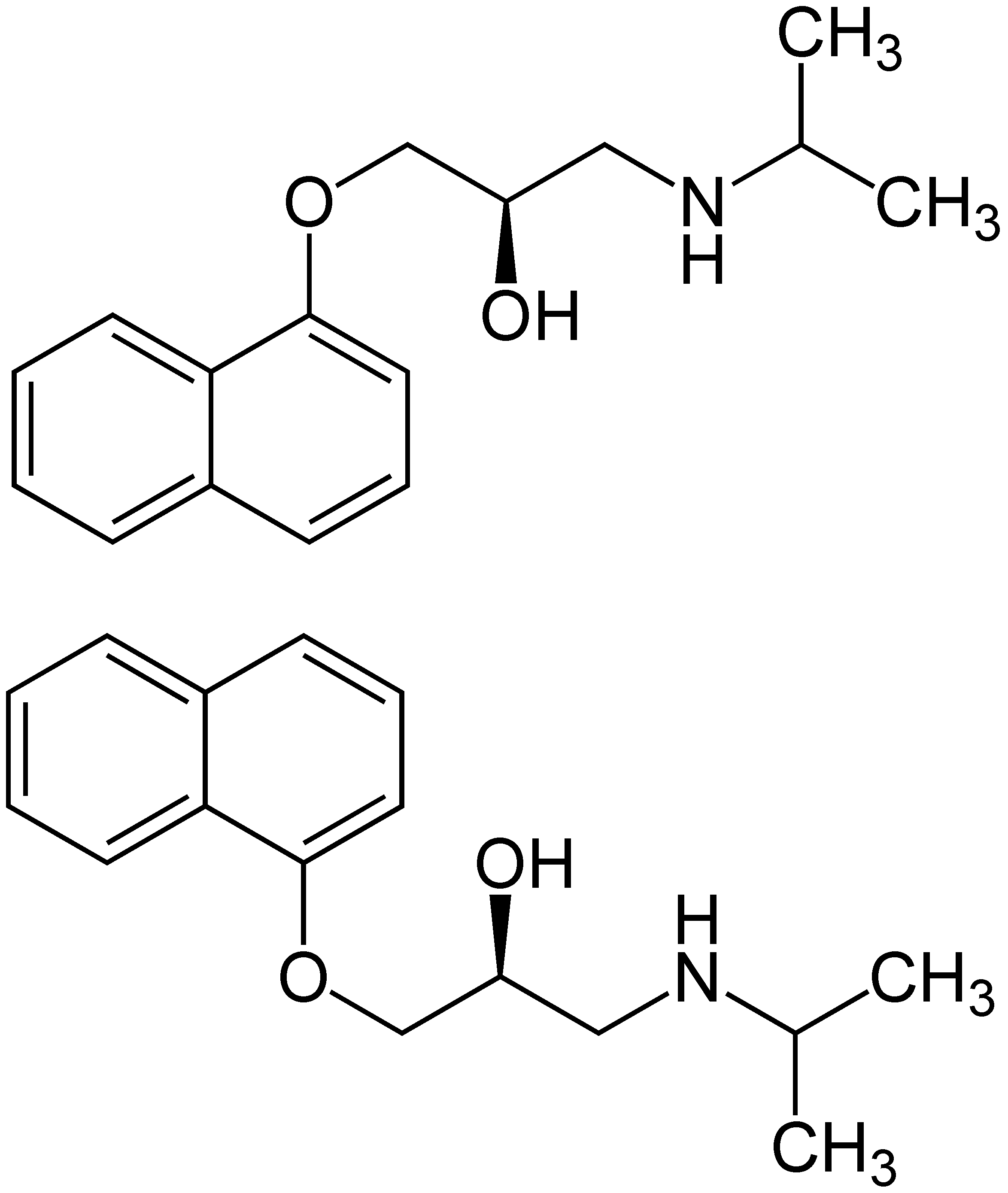 Depiction of Propranolol