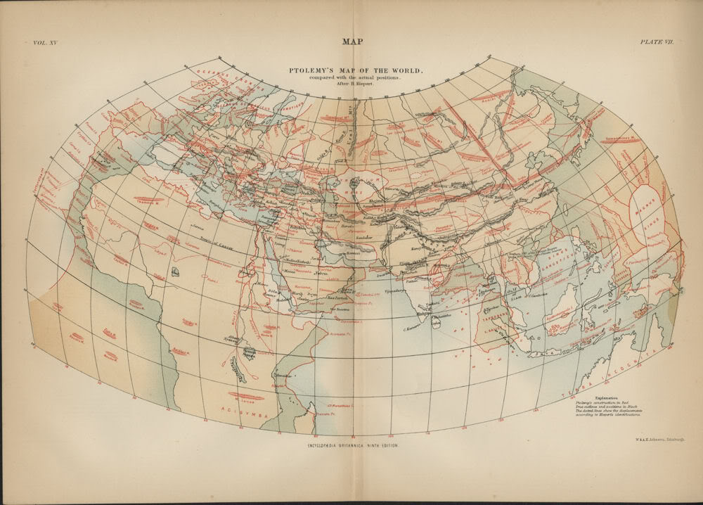 File Ptolemy s Map of the World pared with the Actual Positions