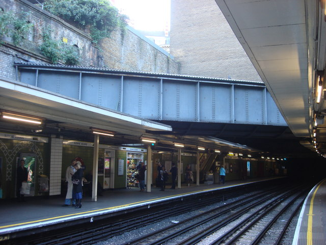 River Westbourne, Sloane Square tube station - geograph.org.uk - 1000476