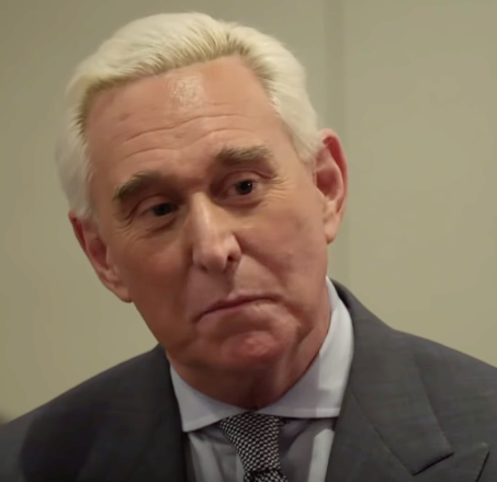 Roger Stone in a suit