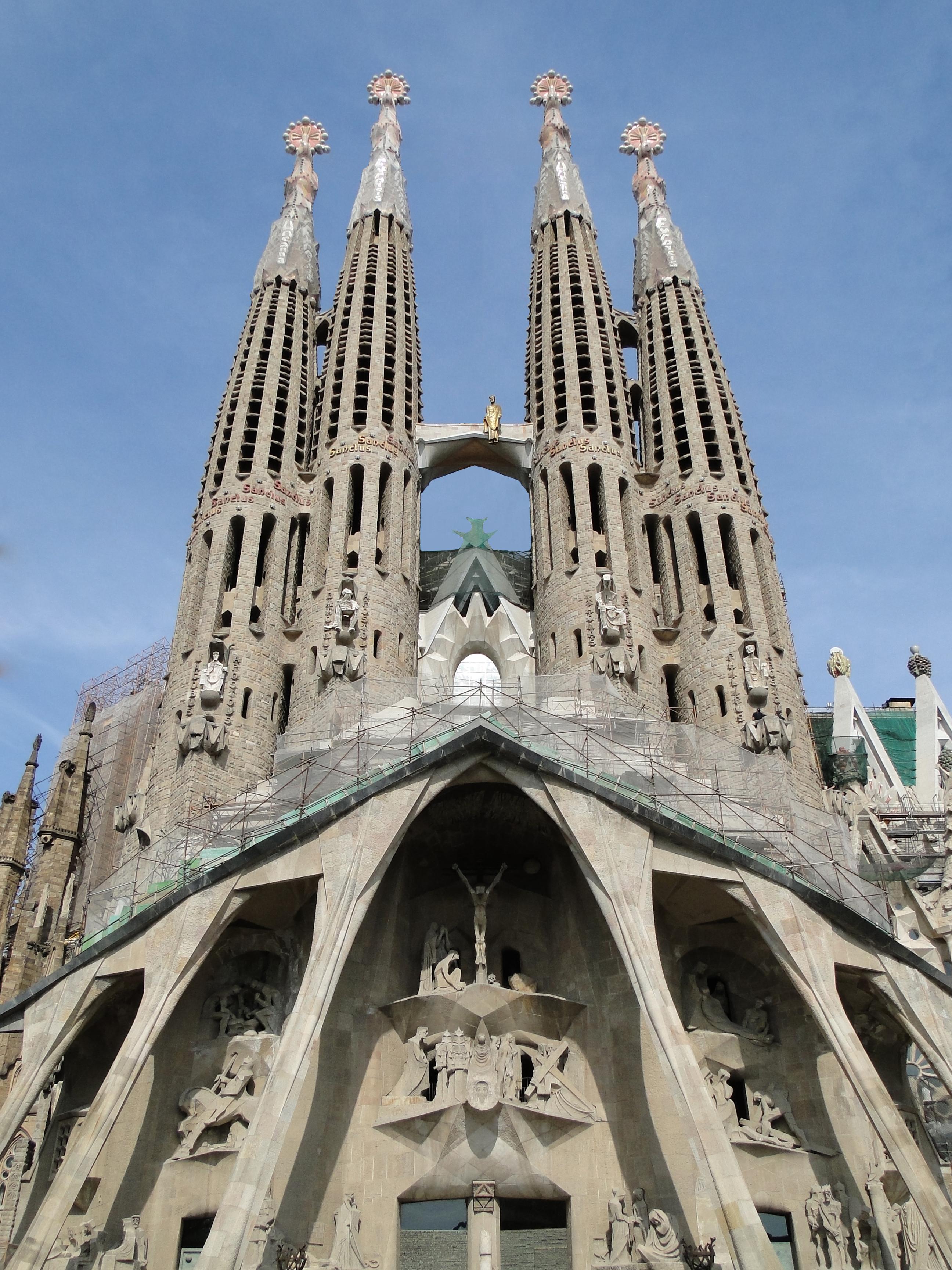 The Sagrada was designed by Gaudi