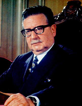 Depiction of Salvador Allende