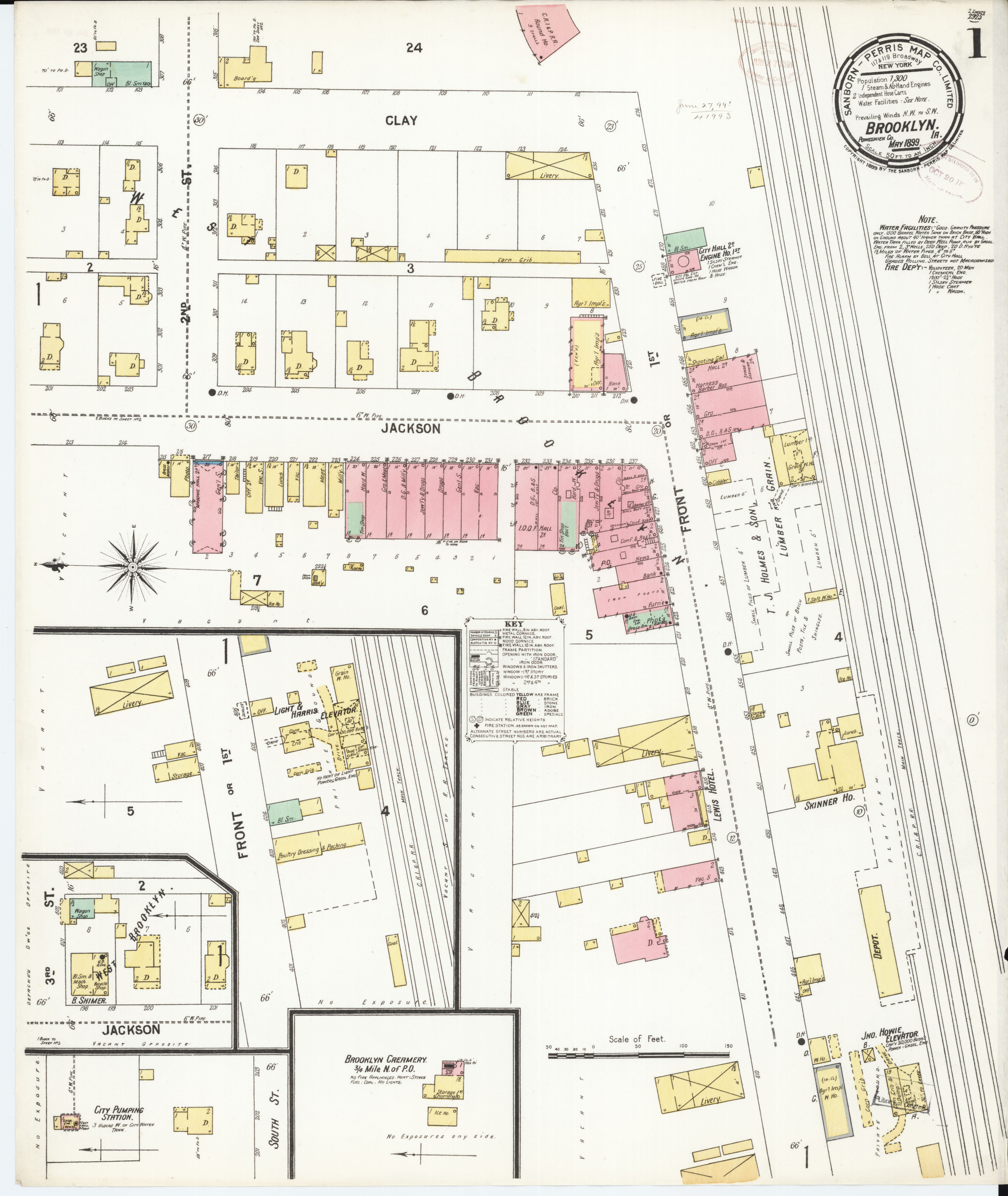 File Sanborn Fire Insurance Map from Brooklyn Powesbiek County
