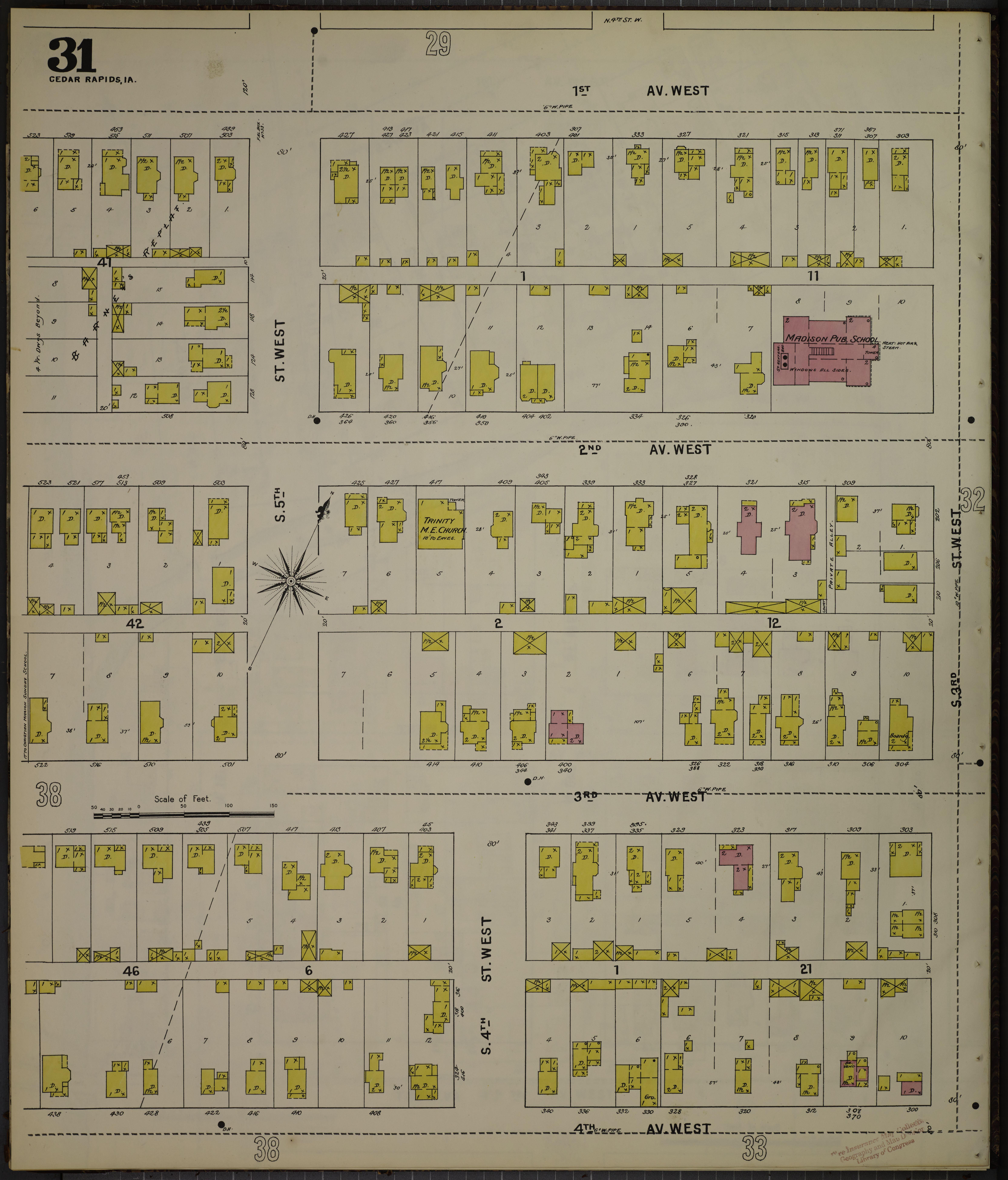 File Sanborn Fire Insurance Map from Cedar Rapids Linn County Iowa