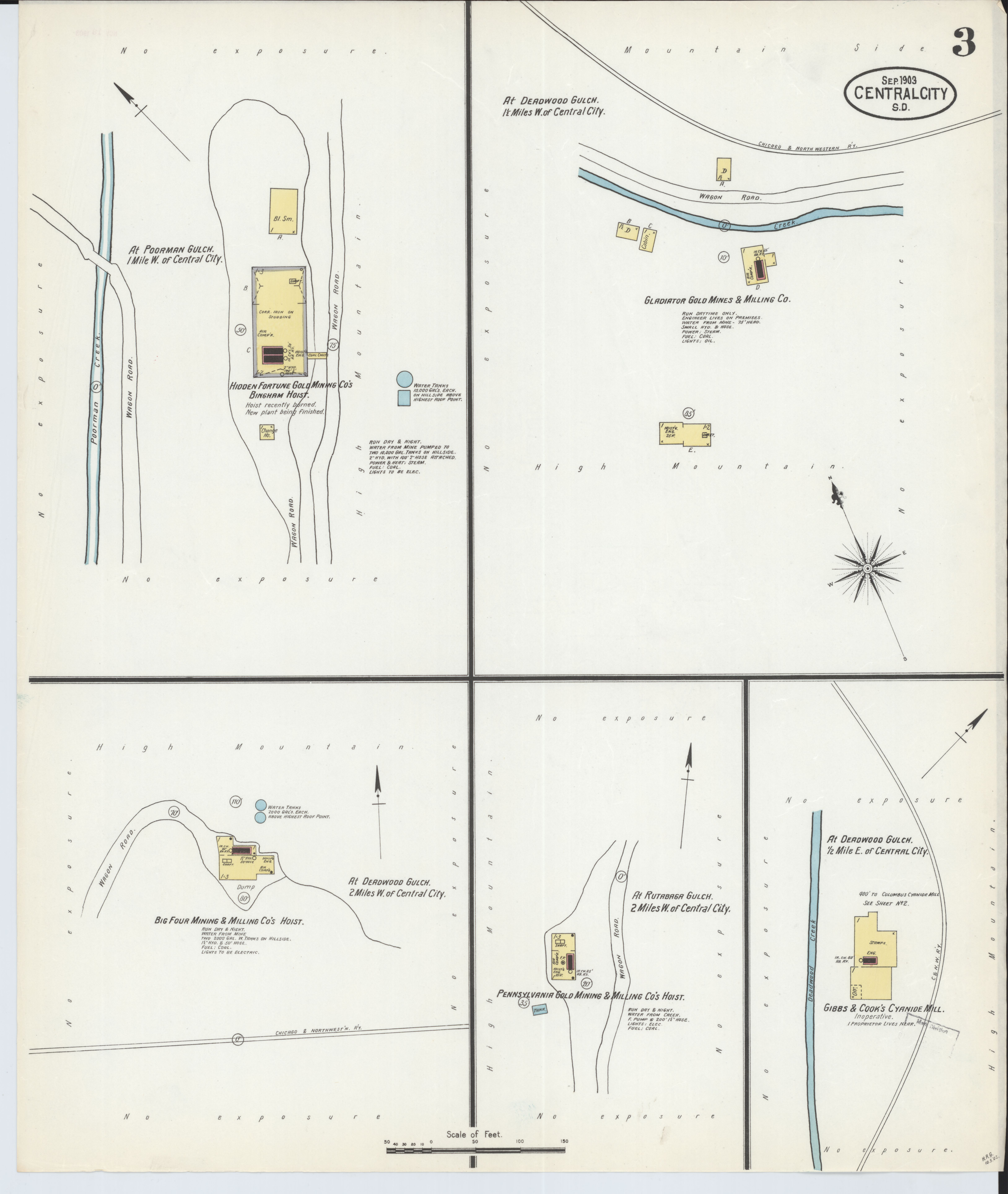 File Sanborn Fire Insurance Map from Central City Lawrence County