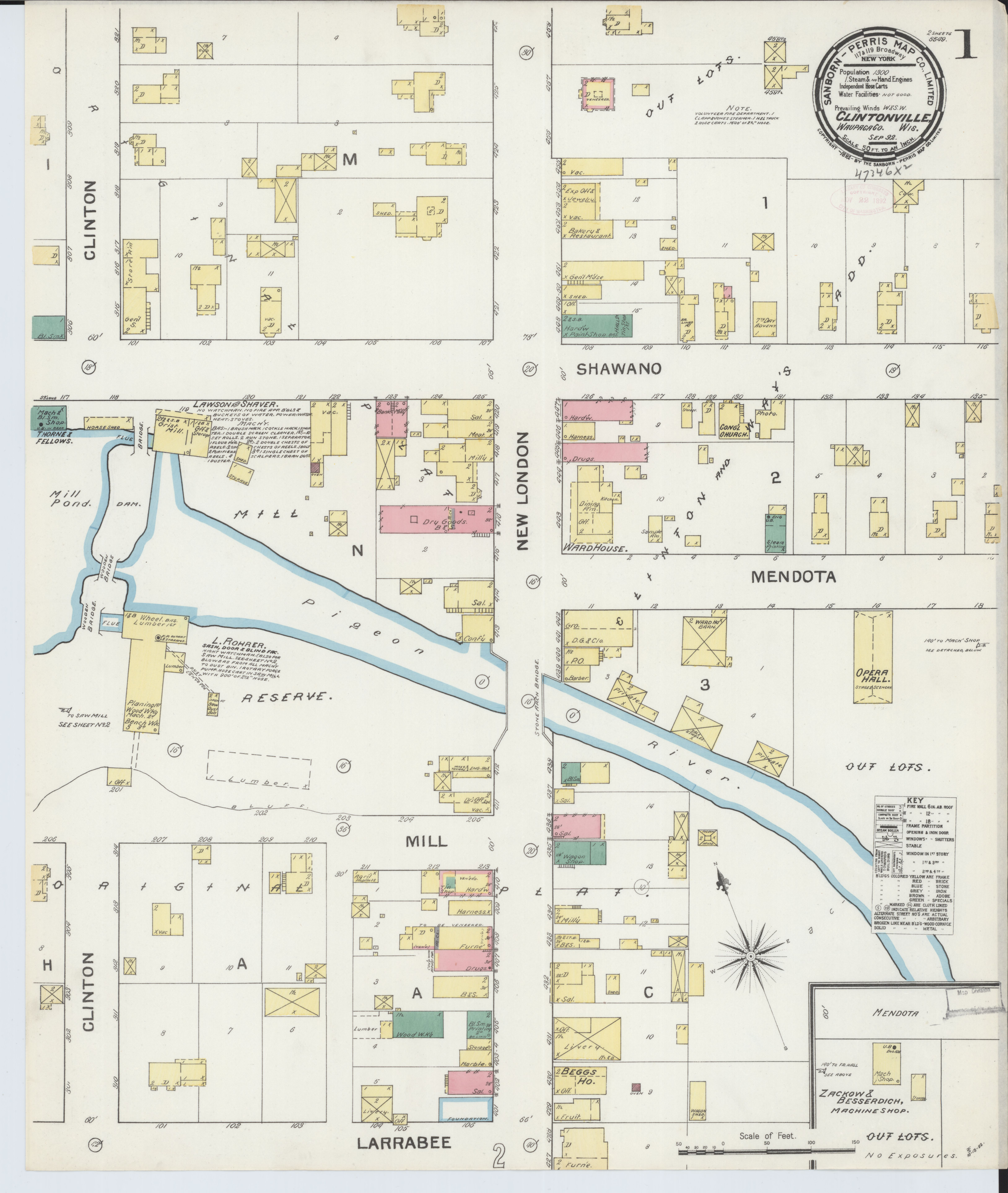 File Sanborn Fire Insurance Map from Clintonville Waupaca County